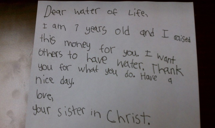Very Cool Donation to Water of Life